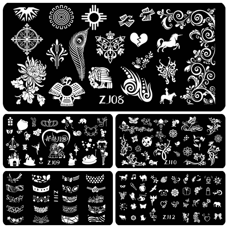 Трафареты для дизайна ногтей из Китая