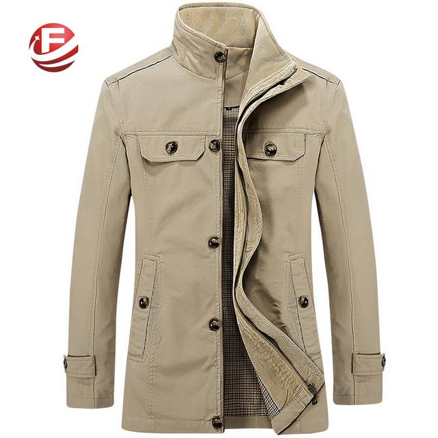 Полноценно новые мужчины мода куртки хлопка пальто деловой человек верхняя одежда ...