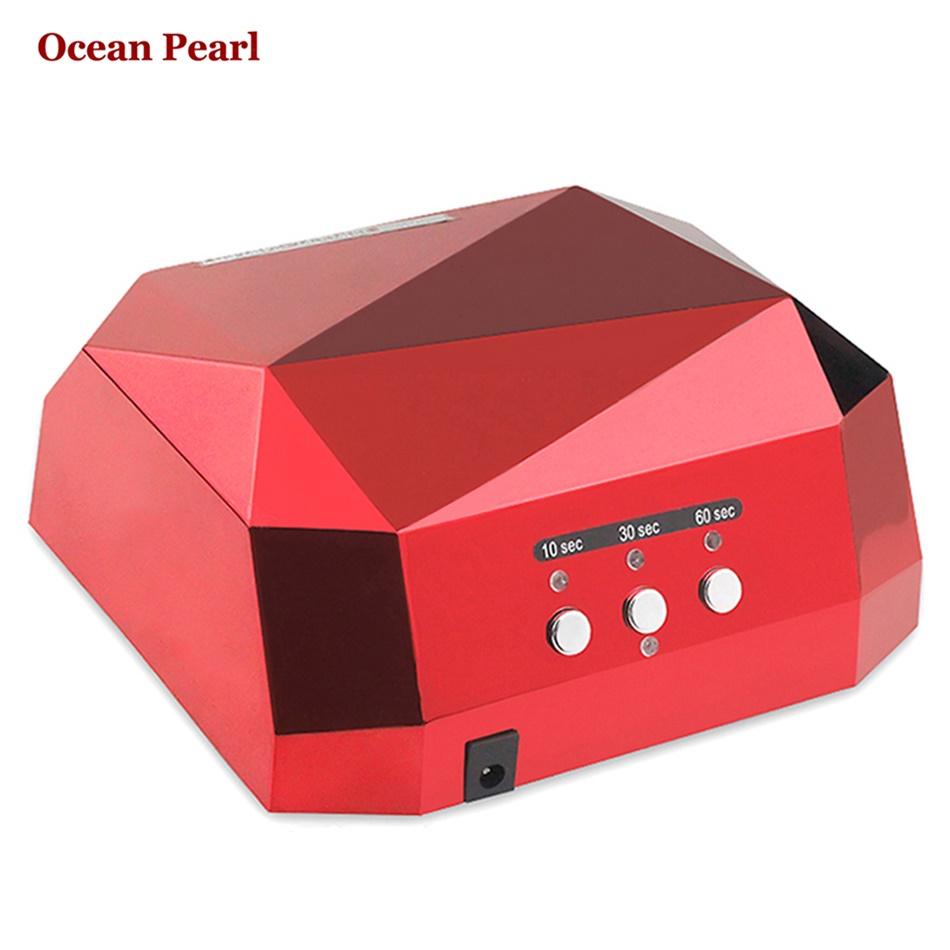 36W UV Lamp LED Ultraviolet Lamp UV Nail Dryer Nail Lamp Diamond Shaped CCFL Curing for UV Gel Nails Polish Nail Art Tools-1006(China (Mainland))