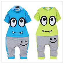 baby boys clothes set  Retail fashion 2014 winter 2~6age Children Outfits pants two-pieces autumn children set chothing(China (Mainland))
