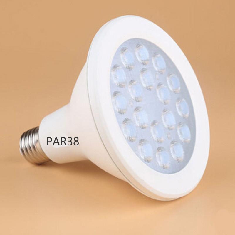 Ultra Bright E27 PAR20 Par30 PAR38 power 18watt LED reflector spotlight driver ac85-265V with CFL Halogen Replacement lighting(China (Mainland))