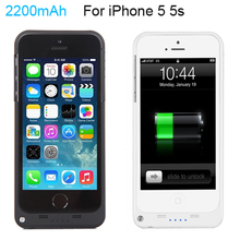 Full 2200mAh External Power bank case pack backup battery Charge case cover for iPhone 5 5s with USB charger cable line(China (Mainland))