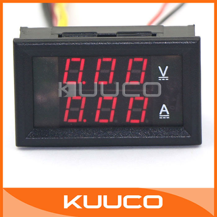 Ampere Meter Instrument : Aliexpress buy yb va red dc v a ammeter