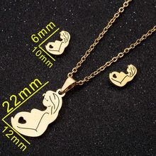 SMJEL belle souris Mickey colliers pour femmes enfants couleur or lapin lune diadème couronne breloque collier bijoux de mariage en gros(China)