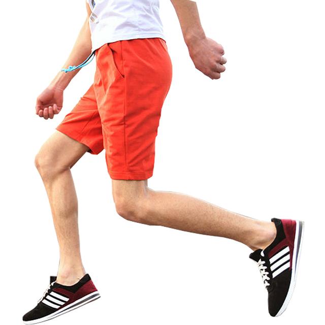 2016 Новый стиль мужские спортивные шорты свободного покроя мода тонкой сплошной ...