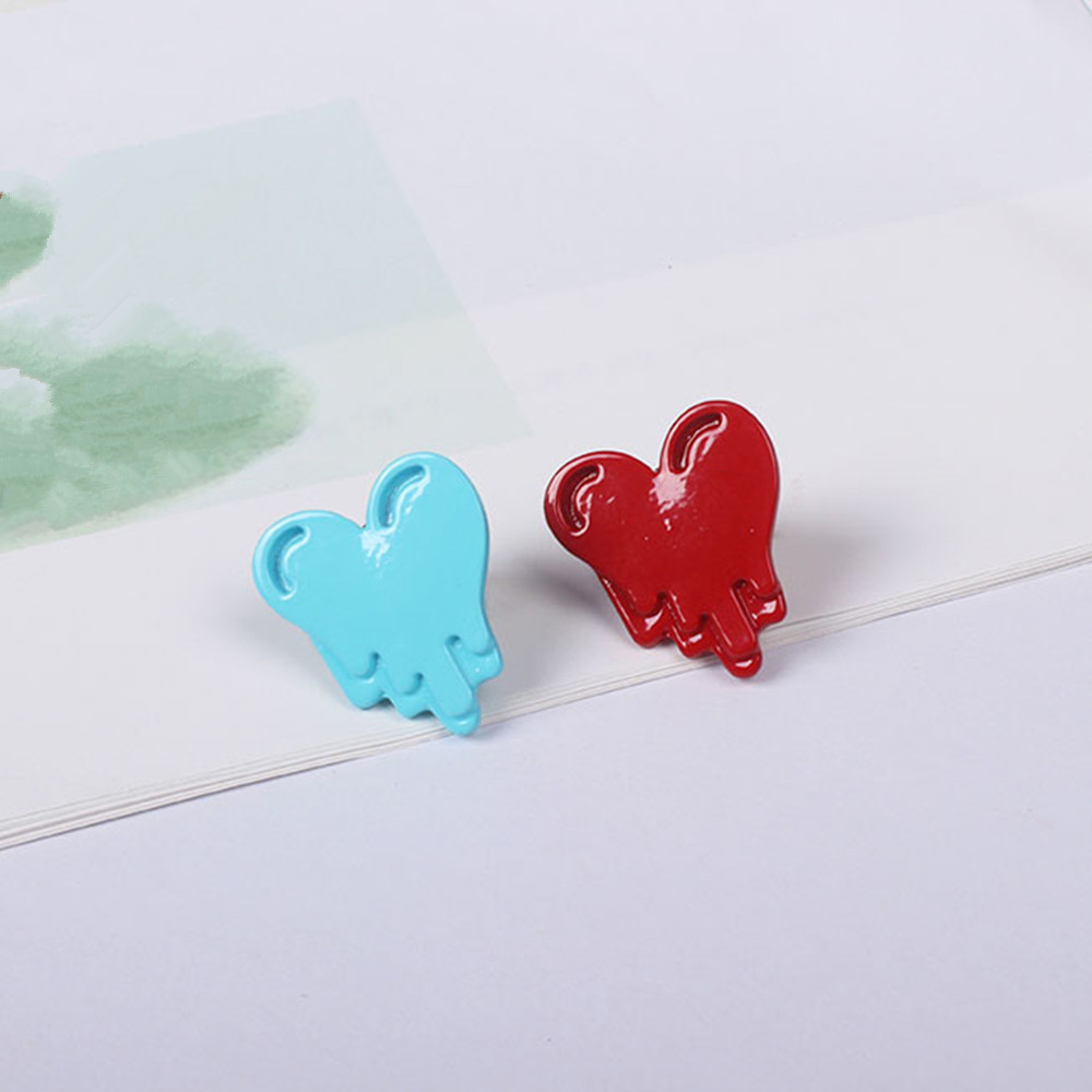 Europe United States foreign trade jewelry manufacturer wholesale tides cargo handsome red/blue/peach heart love brooches(China (Mainland))