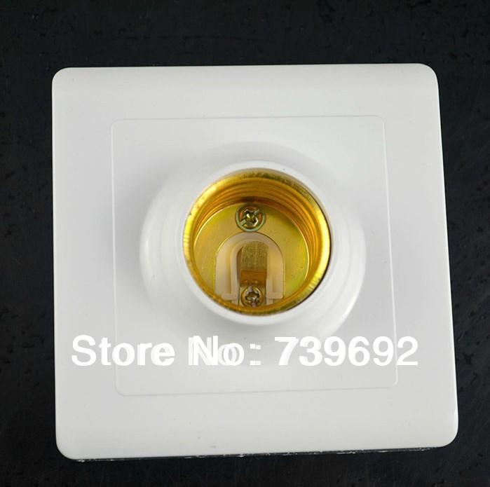 (5pcs/lot) E26/E27 ceramic big screw-mount lamp base cap square of lights ceiling light fitting assembly diy accessories white(China (Mainland))