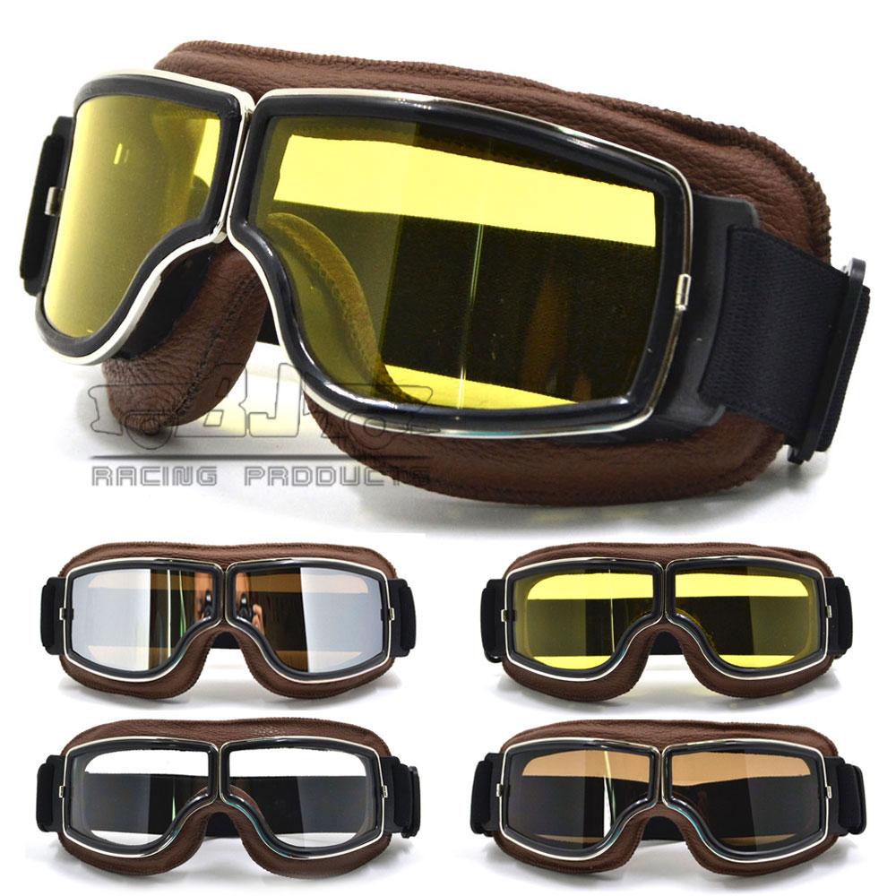 GT-011-FE-YE NEW Harley Style Motorcycle Goggles Pilot Motorbike Goggles Leather Retro Jet Helmet Eyewear<br><br>Aliexpress