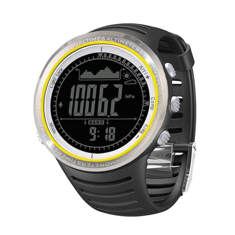 Sunroad многофункциональные спортивные часы FR802A 5ATM водонепроницаемый жк-высотомера компас секундомер рыбалка барометр шагомер открытый