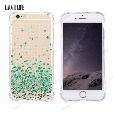 Security Airbag Anti-knock Phone Bags Cases For Apple iPhone SE 5 6 6plus Unicorn Heart Bulldog Pinapple Soft Mobile Phone Cover