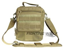 3 Colors Quality 600D Molle Shoulder Bag Competitive Tactical Military Durable Hand Bag with Adjustable Lightweight Padded Belt