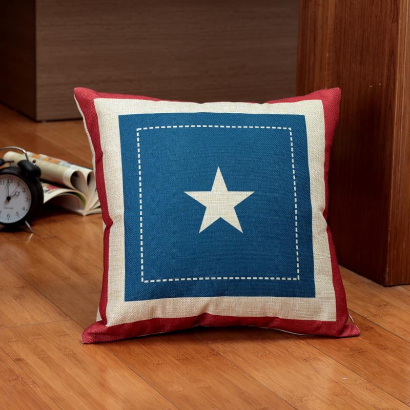 2015 hot National Flag Decorative throw Pillows case Linen Cotton Cushion Cover Creative decoration for Sofa