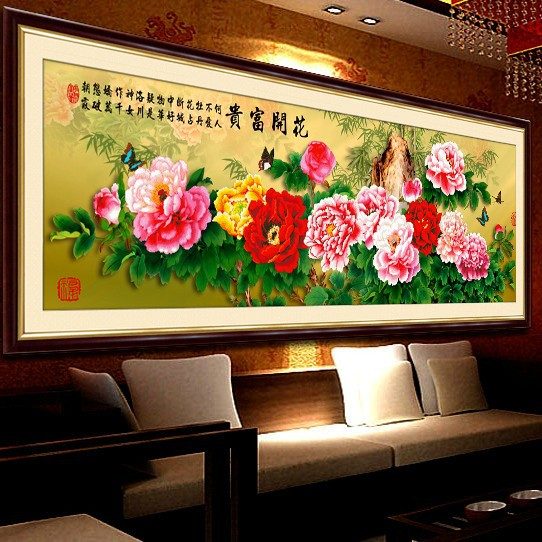 3D cross stitch kit cross-stitch sets,KX 3D cross stitch rich and honour flower embroidery kits home decoration hand made craft(China (Mainland))