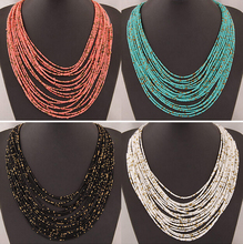 SPX5397 New 2014 Fashion Bohemian Bead Necklaces fashion necklaces for women 2014 collares accessories Body Jewelry(China (Mainland))
