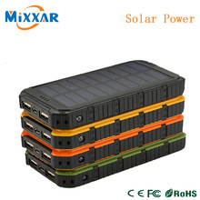 zk30 Newest 16000mAh External Energy Battery Charger Solar Power Bank Dual USB Output Charging Portable Charger Powerbank