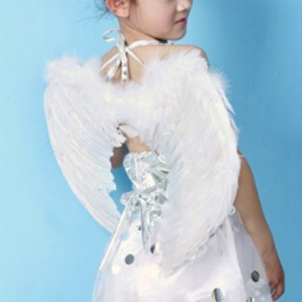 Adults Kids Feather Fairy Angel Wings Hen Night Party Fancy Dress Costume(China (Mainland))