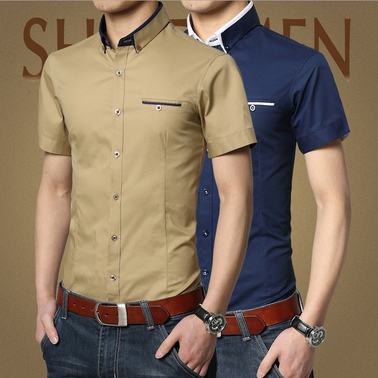 Mens short sleeve casual dress shirts artee shirt for Short sleeved shirts for men