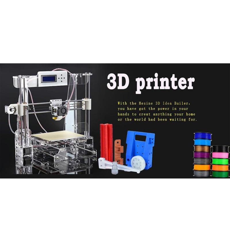 2015 New Big Acrylic Frame Reprap Prusa I3 DIY 3D Printer 3 D impressora KIT Machine