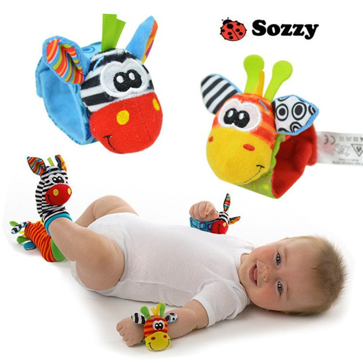 хорошего качества новые пары sozzy детские погремушки запястье детской мягкой игрушки погремушки искатели развития