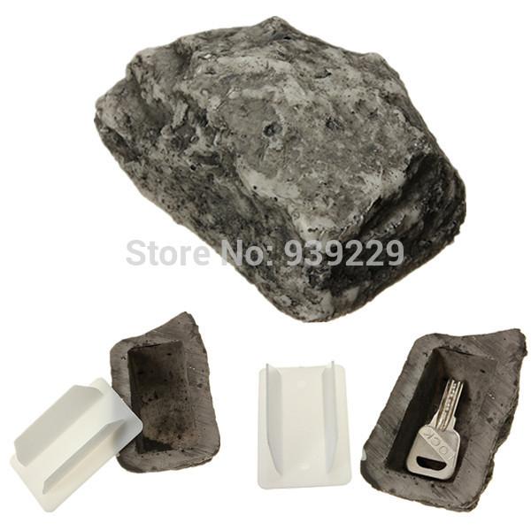 Outdoor spare house safe hidden hide security rock stone case box for