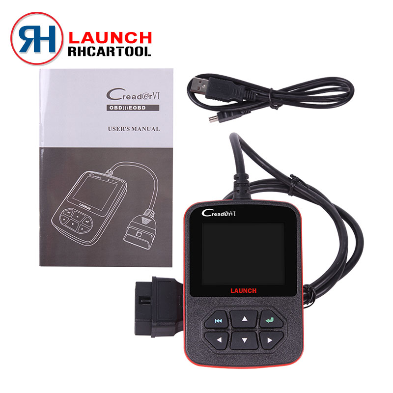 100% Original Launch Creader VI creader 6 Auto code scanner with Russian,English,Spanish,Portuguese Online update Free Shipping(China (Mainland))