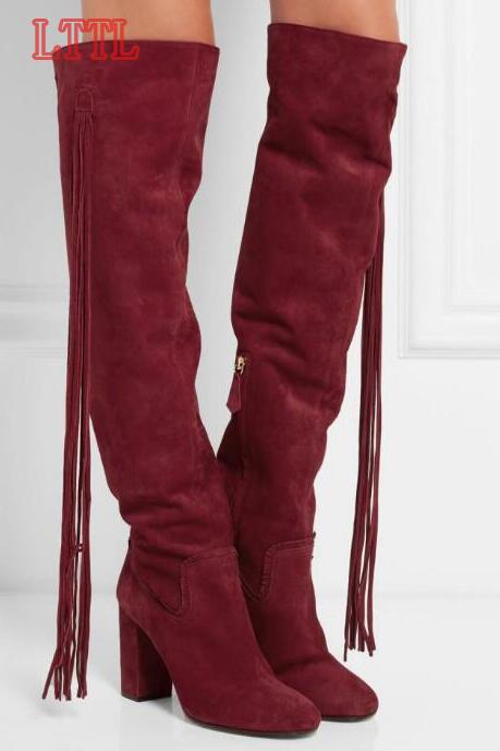 Womens Fringe Boots Cheap