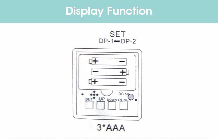 JINSUN New Modern Wooden Led Clock Square Style Desktop Clock Led Digital Single Face Alarm Clock Activated Watch despertador