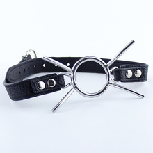 Buy Hot Stainless Steel Butterfly Ring Open Mouth Gag PU Leather Ball Gag Fellatio Mouth Plug BDSM Toys SM Oral Sex Adult Game for $8.98 in AliExpress store