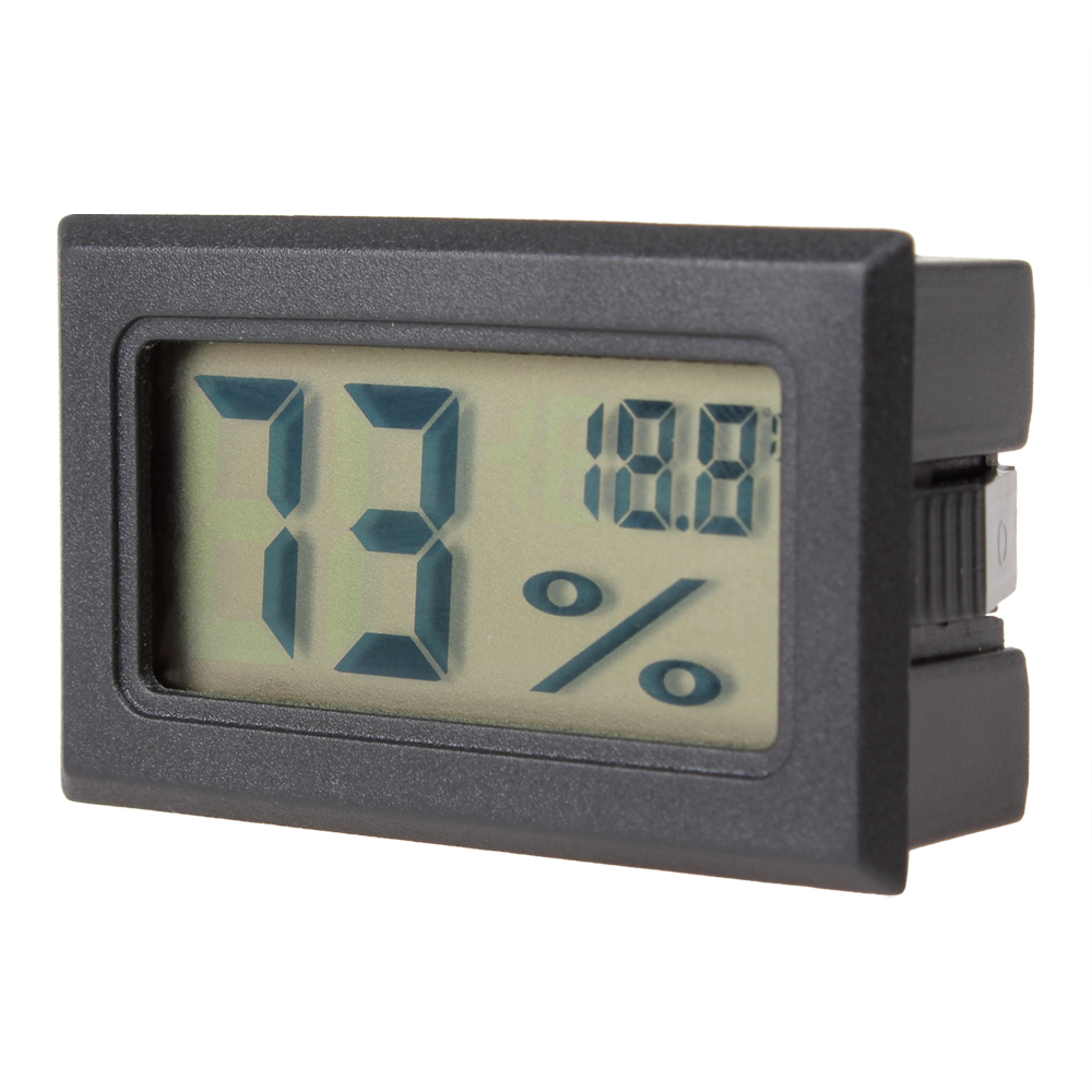 hot Mini Black Digital LCD Display Embedded Thermometer & Hygrometer Temperature Humidity Meter Measure Indoor Gauge(China (Mainland))