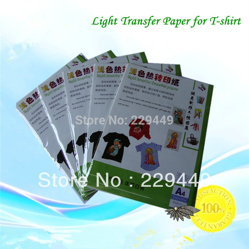 Free 10*A4 Dark Laser Transfer Paper T shirt Fabric Wholesale Thermal Transfers Printing Paper With Heat Press Laser Printer(China (Mainland))