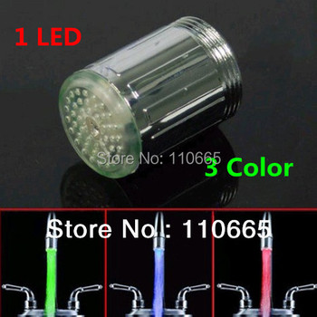 2014 brazil Free Shipping Temperature Control LED Faucet Light RGB Colors Changing
