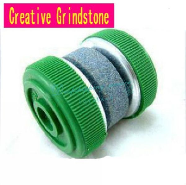 Creative Small Whetstone Round Grindstone Sharpener Knife Grinder Kitchen Supplies Drop Shipping/Free Shipping Wholesale(China (Mainland))