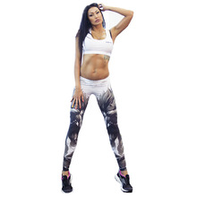 Adventure Time Fitness Women Sports Leggings Digital Printing Knitted Jeggings Workout Pants Sexy Gym Clothes Leggins SML138(China (Mainland))