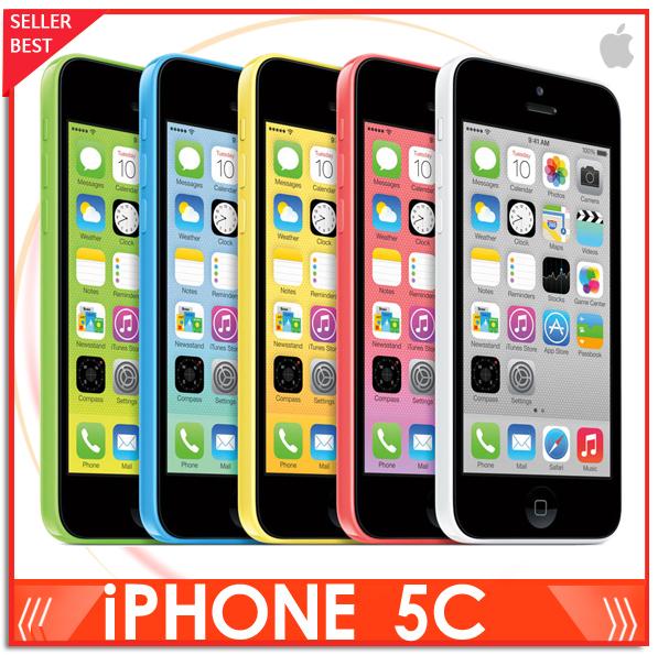 "Iphone 5C 100% Factory Unlocked Apple Iphone 5c Cell phone 4.0"" Dual Core WCDMA IOS Multi-Language16GB/32GB optional(China (Mainland))"