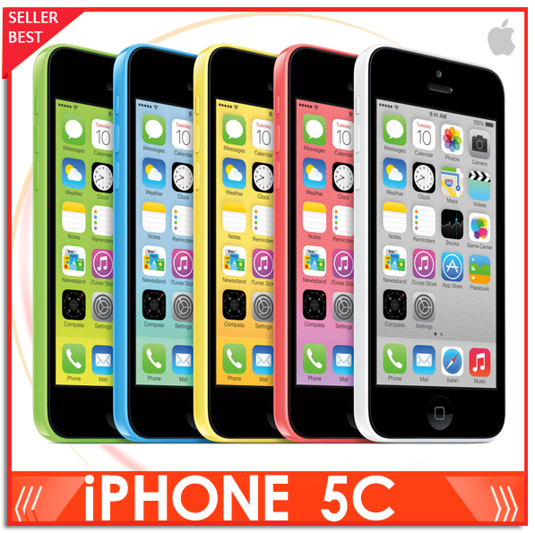 "Iphone 5C 100% Factory Unlocked Apple Iphone 5c Cell phone 4.0"" Dual Core WCDMA IOS Multi-Language16GB/32GB optional(China (Mainland))"