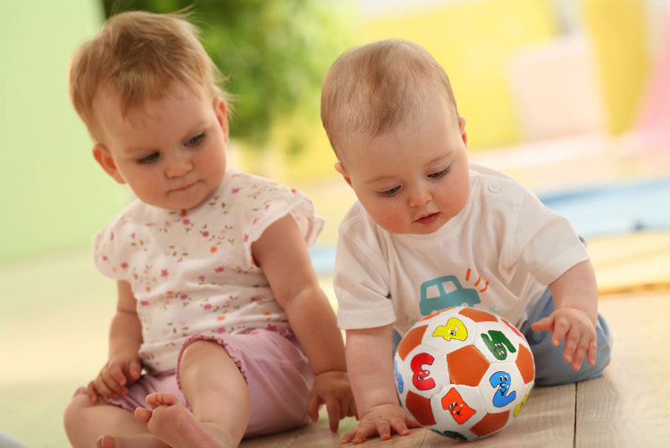 Baby Soft Number Football Toys PP Cotton & Bell Stuffed Baby Education Funny Playing Balls(China (Mainland))