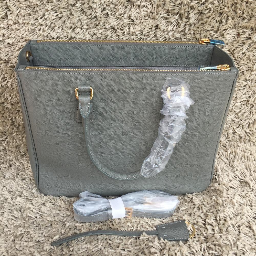 S02 Classic luxury brand women solid color handbag women saffiano bag genuine leather Cross pattern bag 33cm Triangle Mark bag(China (Mainland))