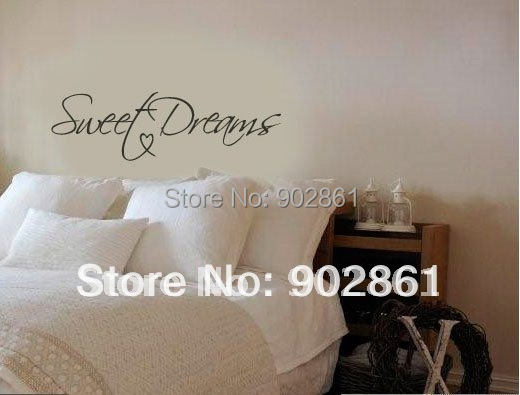 "Funlife Modern Wall Sticker-22""x8"" Sweet Dreams Vinyl Art Mural Wall Quote Saying decals L2012354"