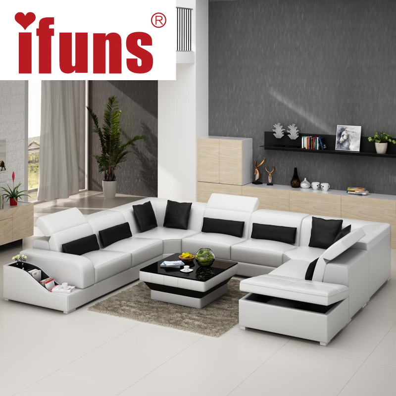 Modern & Contemporary Leather Corner Sofas L Shaped Corner Sofa Beds Regular Left Hand Corner Sofa(China (Mainland))