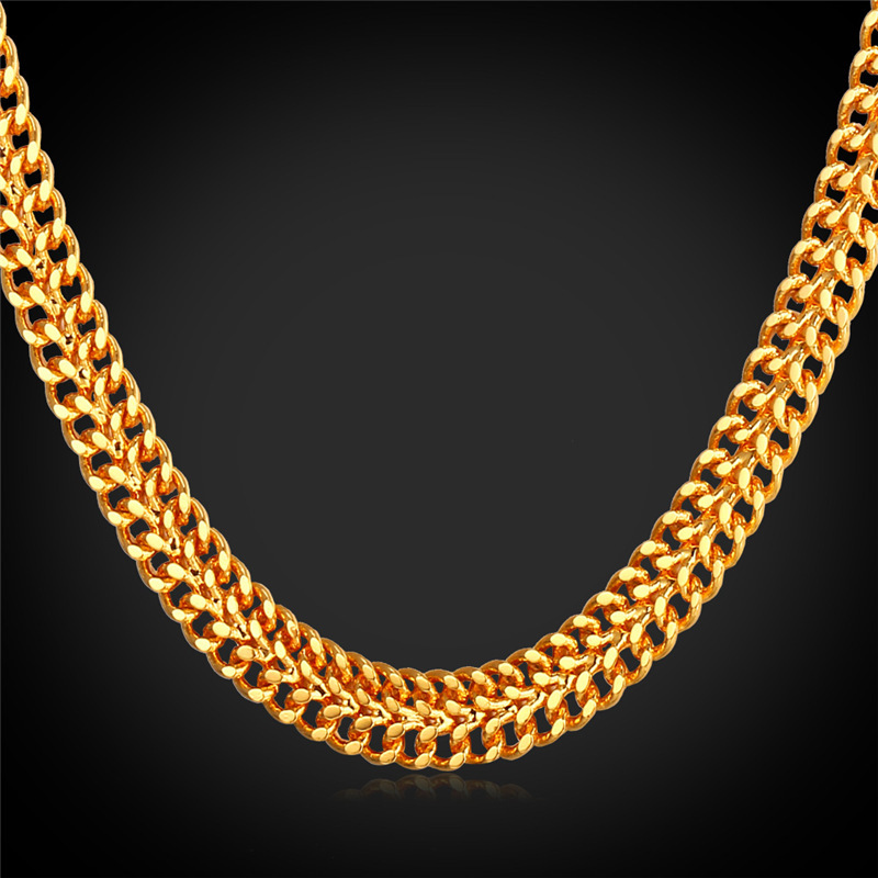 Aliexpress.com : Buy Gold Mesh Chain Men Necklace With ...