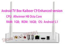 Kaiboer C9 Chinese language Android TV Box Allwinner H8 Octa Core 1GB/16GB FHD H.265 Metal Shell TV Network Media Player Kodi