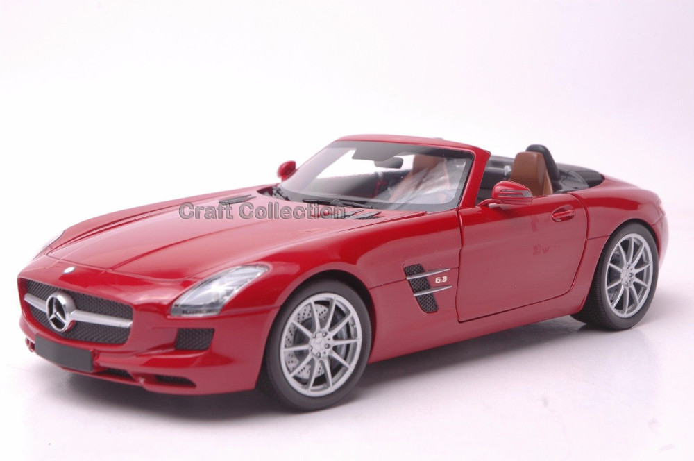 * Minichamps Purple 1/18 Scale Mercedez Benz SLS AMG Radster Luxurious Assortment Diecast Mannequin Automobile Cabrio
