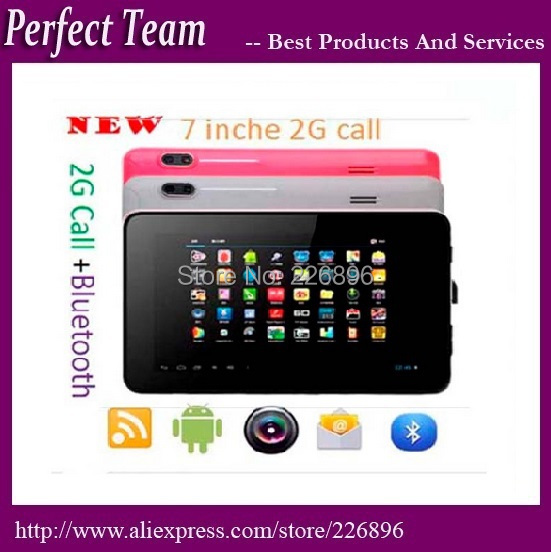 DHL Free Shipping 86V 7 inch A23 2G Call Tablet pc Dual core Dual Cameras Android 4.0 Allwinner Cortex A8 Bluetooth(China (Mainland))