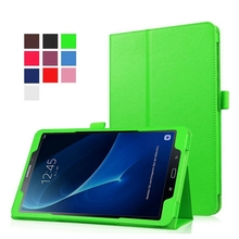 For Samsung Galaxy Tab A 10.1 inch (2016) T580 T585 Case Smart Litchi PU Leather Bag Cover stand case(China (Mainland))