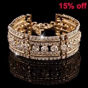 2015 Newest Fashion Women Wide Gold Bangle Punk Rock Bracelets Bangles  pulseiras carter bracelet b852b07d936e