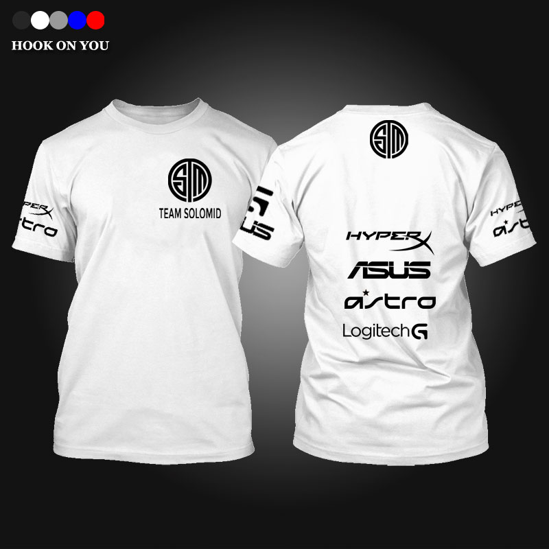 exclusive design E-sports LOL Game Team T-Shirt TSM Team Solo Mid Print Men T Shirt fashion casual O neck cotton Gaming Top tees(China (Mainland))