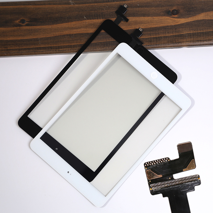 For iPad mini1 mini 2 Replace The Wrong Damaged & Cracked & Unrecognized Touch Screen Digitizer With White And Black Home Button(China (Mainland))