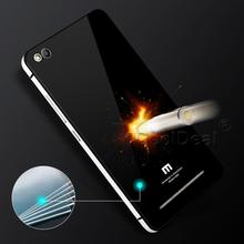 Tempered Glass & Aluminum Border 2 in 1 Case For Xiaomi Redmi 3 Redmi3 / Hongmi 3 Hongmi3 5.0″ Luxury Mobile Phone Cases
