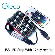 DC5V USB LED strip 5050 RGB Flexible Light 1M 2M TV Background Lighting RGB LED strip Adhesive Tape IP20 / IP65 waterproof(China (Mainland))