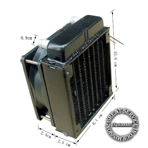 80mm Radiator computer CPU cooling water cooler radiator fan cooling system devices(China (Mainland))
